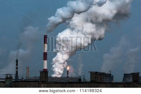 puffs of steam