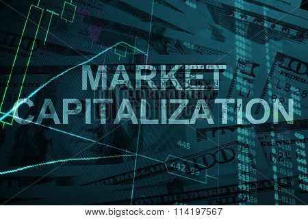Words  Market capitalization with the financial data.