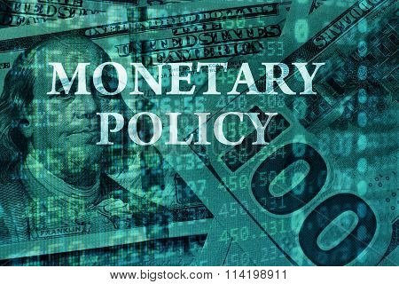 Words Monetary policy  with the financial data.