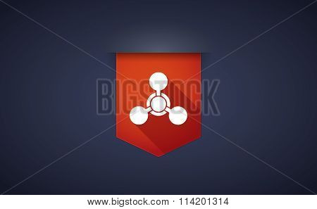 Long Shadow Ribbon Icon With A Chemical Weapon Sign