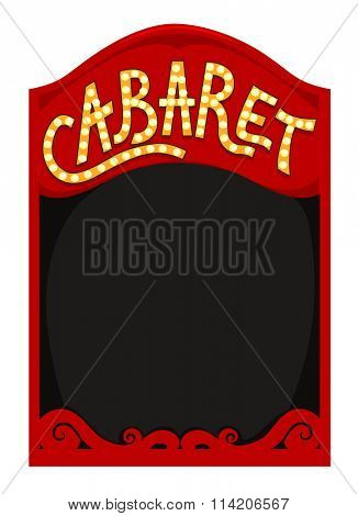 Frame Illustration Featuring a Red Box with the Word Cabaret Written Above It