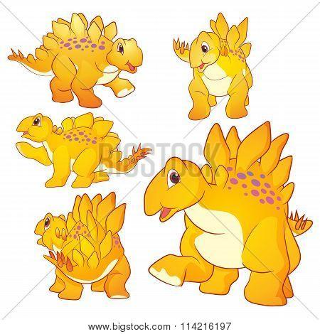 Cute Stegosaurus Cartoon