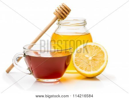 Black tea, honey and  lemon