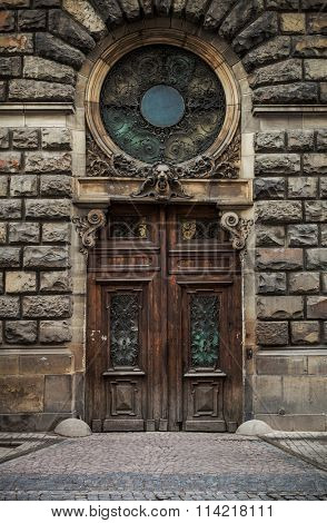 Old door in Lviv, Urkaine