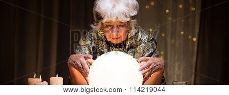 Looking At Crystal Ball