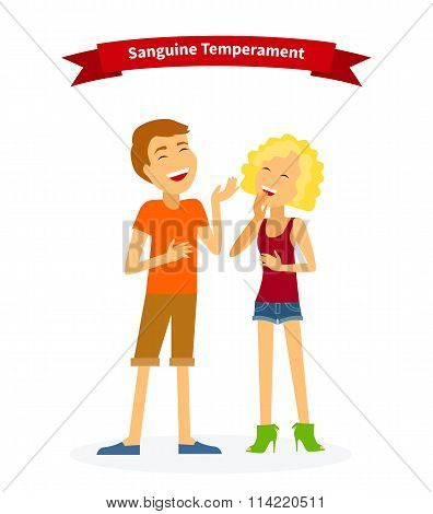 Sanguine Temperament Type People