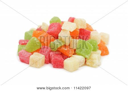 Colorful Dried Tropical Fruits
