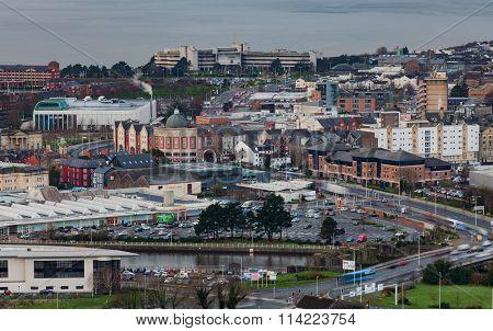 Entering Swansea city