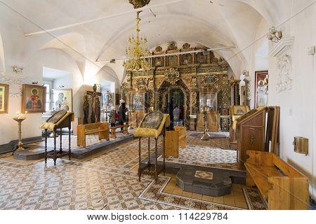 Nizhny Novgorod Russia - November 03.2015. The iconostasis of the Church of the Nativity built in the 17th century Landmark
