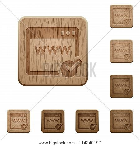 Domain Registration Wooden Buttons