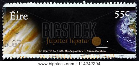 Postage Stamp Ireland 2007 Earth And Jupiter, Planets
