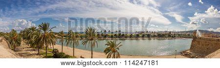 Beuatiful View Of Mallorca City, Balearic Islands, Spain