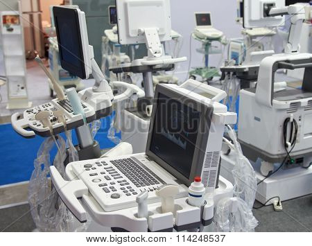 Kiev, Ukraine - September 30, 2015: Medical facilities in the exhibition hall at the