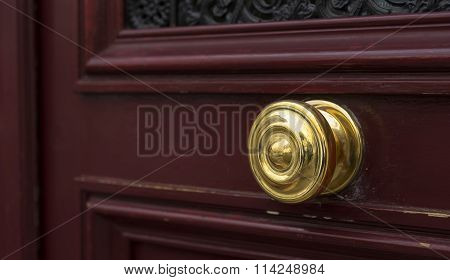 Shiny Brass Doorknob