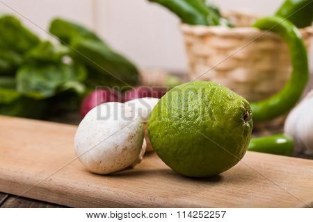 Lime With Mushrooms