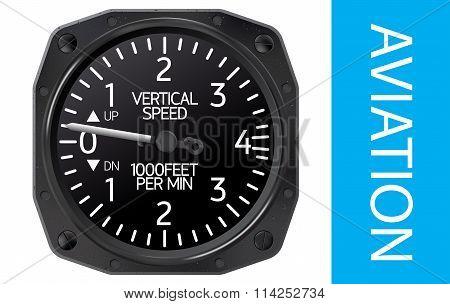 Variometer vector illustration