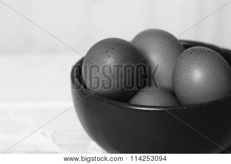 Fresh Raw Eggs In Plate