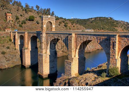 Roman bridge of Alcantara near Caceres