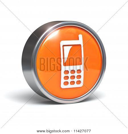 Téléphone portable - bouton 3D