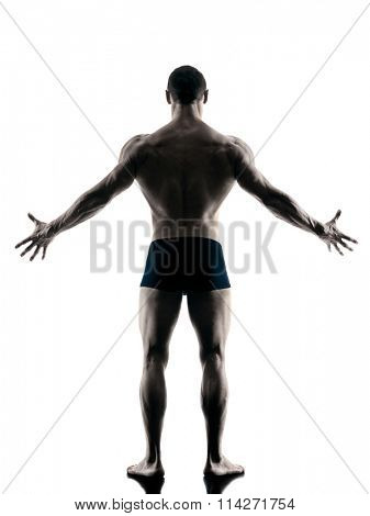 body buiding man isolated