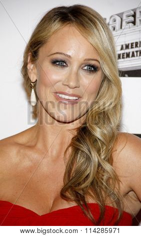 Christine Taylor at the 26th American Cinematheque Award Honoring Ben Stiller held at the Beverly Hilton Hotel in Los Angeles, California, United States on November 15, 2012.