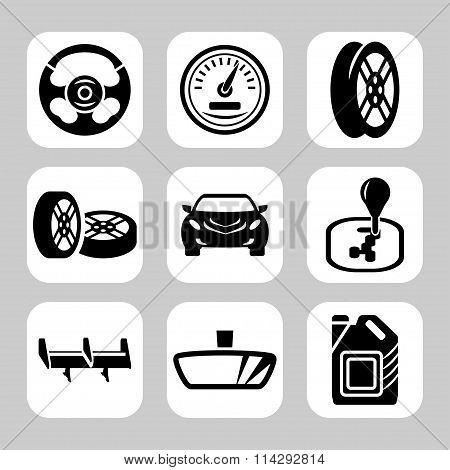 Car Parts Vector Icon Set. Vector Symbols. Vector Illustration