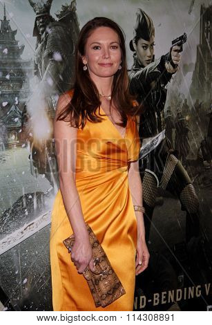 HOLLYWOOD, CALIFORNIA - March 23, 2011. Diane Lane at the Los Angeles premiere of