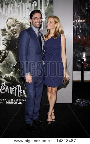 Jon Hamm and Jennifer Westfeldt at the Los Angeles Premiere of