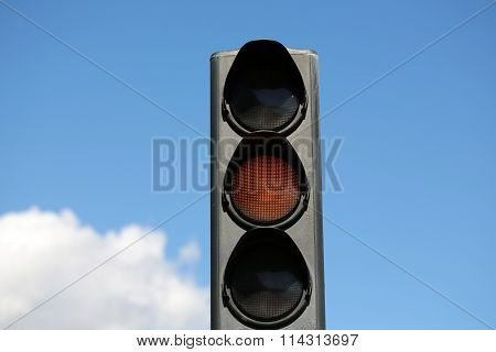 Yellow Light-signal Of Traffic Light