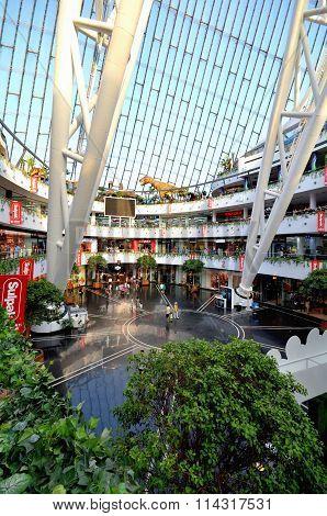 View Of The Hall Of Commerce Entertainment Center Khan Shatyr Astana. Kazakhstan