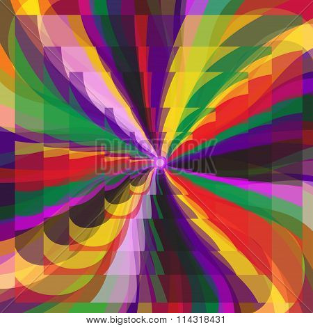 Bright Beautiful Abstract Background Vector Illustration