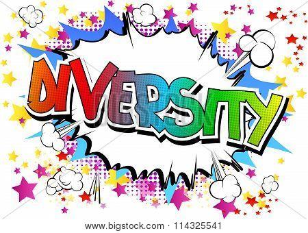 Diversity - Comic book style word