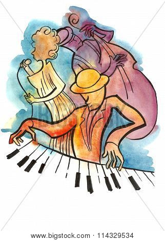 Jazz singer, pianist and bassist