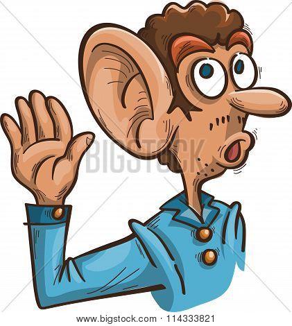 Man With Big Ear