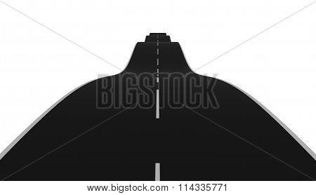 Wavy road dissapear over horizon