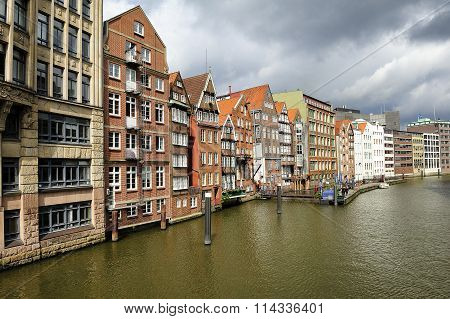 Timber-framed Houses At Nikolaifleet, Altstadt District, Hamburg