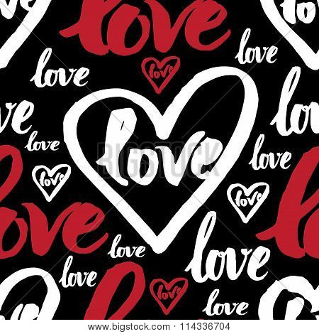 Seamless Pattern With Sign Love