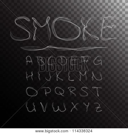 Smoke Alphabet. Vector illustration