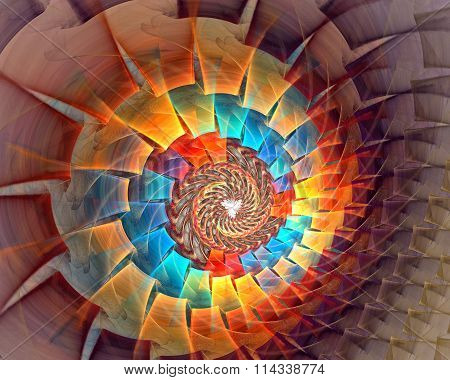 Micro white space. fractal background