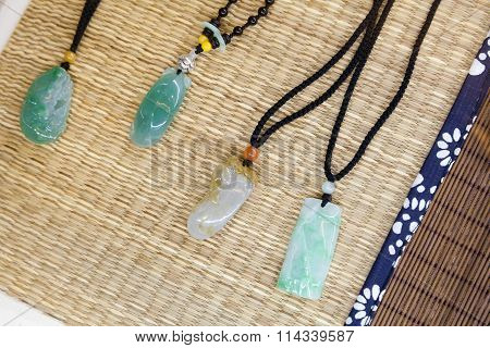 Traditional Chinese Stone Amulets Made Of Jade