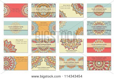Business Card Collection. Indian Style.
