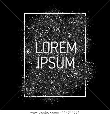 Vector black dust with white vector frame. Trendy abstract background ready for your design.