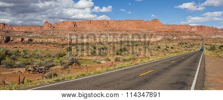Panorama Of Scenic Byway 12 Near Capitol Reef