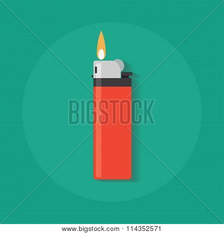 Vector Lighter Flat Fire