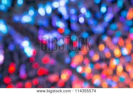 Closeup Of The Abstract Multi Colour Light Bokeh