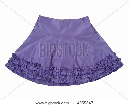 violet skirt isolated on white background