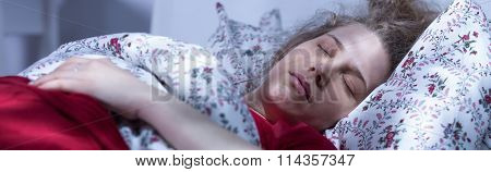 Asleep Woman After Long Crying