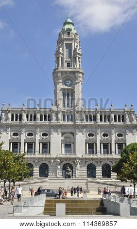 Building Of Porto Town Hall