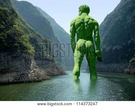 River With Green Giant