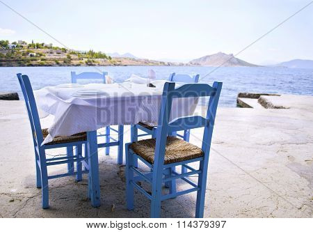 traditional tavern in a greek island